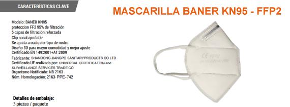 MASCARILLA 3 UDS