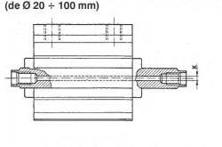 TN10X100 doble acción 10mm diámetro 100mm carrera doble Barra Cilindro de aire neumático