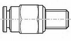 ACOPLE PARA TUBO DE PLASTICO Y METAL REF. STAR BOSCH REXROTH R341703309