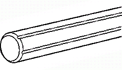 EJE ACERO DE 10 MM CON 4 RANURAS GUIA L=600 MM REF. STAR BOSCH REXROTH R072401002
