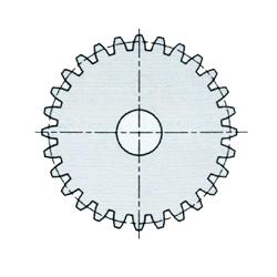 engranaje engranaje recto KS de plástico el poliacetal módulo 1 taladro ø6 12 dientes