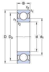 SKF 6202/ /2Z Rodamiento Coche