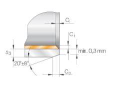 CASQUILLO AUTOLUBRICADO DIAMETRO EXTERIOR 7 MM DIAMETRO INTERIOR 5 MM INA PAP0508-P10