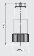CONECTOR HEMBRA ZBE 02 KABELBUCHSE BINDER S714, GERADE REF. HYDAC 609479