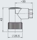 CONECTOR HEMBRA ZBE 03 KABELBUCHSE BINDER SERIE 714 M18 ABGEW. REF. HYDAC 609480