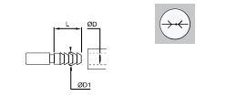 ACOPLADOR CON ESPIGA ACANALADA PARA TUBO FLEXIBLE DIAMETRO 4 MM REF. LEGRIS 0180 04 00