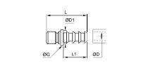 ACOPLADOR CON ESPIGA ACANALADA PARA TUBO FLEXIBLE DIAMETRO 12 MM 13.5 MM REF. LEGRIS 2295 12 12