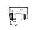 ACOPLADOR C9000 ROSCA MACHO BSP CILINDRICA G 1/2 12 MM REF. LEGRIS 9087E07 21