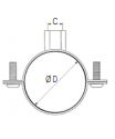 ABRAZADERA DE FIJACION DE ACERO INOX DIAMETRO 100 MM REF. LEGRIS TRANSAIR EX01 L3 00