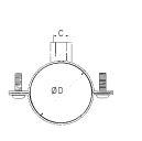 ABRAZADERA DE FIJACION PARA TUBO DE ALUMINIO RIGIDO DIAMETRO 168 MM REF. LEGRIS TRANSAIR ER01 L8 00