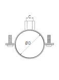 ABRAZADERA ISOFONICA DIAMETRO 22 REF. LEGRIS TRANSAIR ER01 N7 00