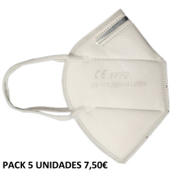 MASCARILLA BANER KN95 - FFP2 NON MEDICAL EN PACK 5 UDS
