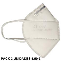 MASCARILLA BANER KN95 - FFP2 NON MEDICAL EN PACK 3 UDS