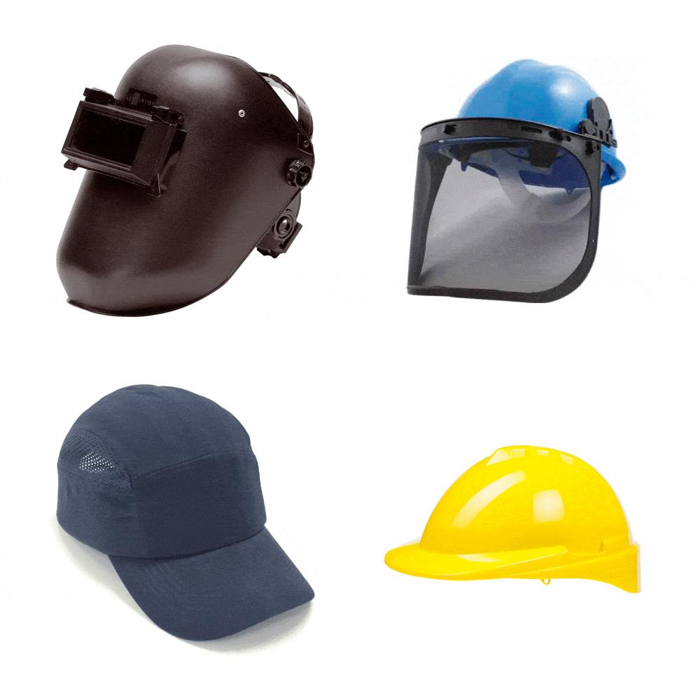 Protecciones de cabeza - faciales. Suministros Industriales