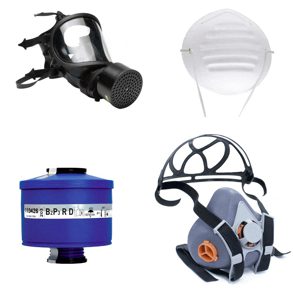 Protecciones respiratorias. Suministros Industriales